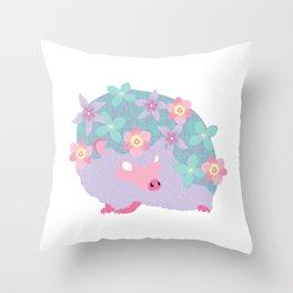 Spring Hedgehog ~ FAIRY VAR Throw Pillow