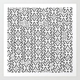 Pisces Zodiac doodle Art Print