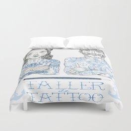 Taller Tattoo Duvet Cover