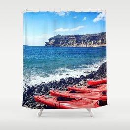 Greek Kayaks Shower Curtain
