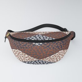 Patched Abstract Floral II Fanny Pack