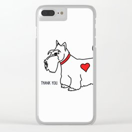 Thank you - Scottie Clear iPhone Case