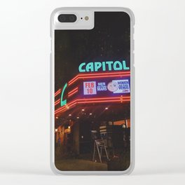 Vintage Movie Theater Clear iPhone Case