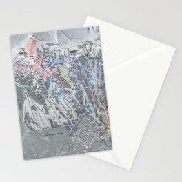 Jackson Hole Mountain Resort Trail Map Stationery Cards