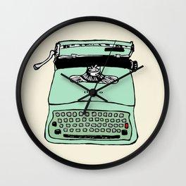 Lettera 22 typewriter fifties style 1950 - 50s style - Olivetti facsimile Wall Clock