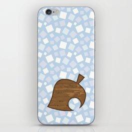 Animal Crossing Winter Leaf iPhone Skin