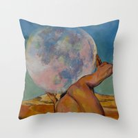 atlas Throw Pillows featuring Atlas by Michael Creese