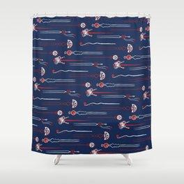 Kanzashi (かんざし) Shower Curtain
