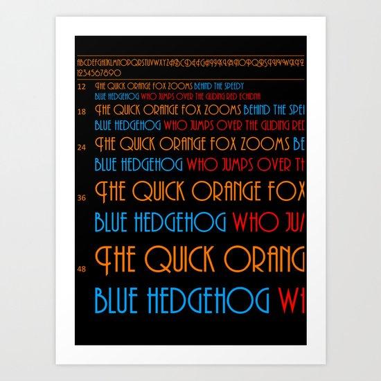 The Quick Orange Fox Art Print