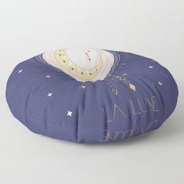 The Moon and stars - magical tarot illustration no6 Floor Pillow