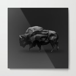 Bison - Augmented Metal Print