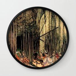 "Kay Nielsen Fairytale Illustration ""12 Dancing Princesses"" Wall Clock"