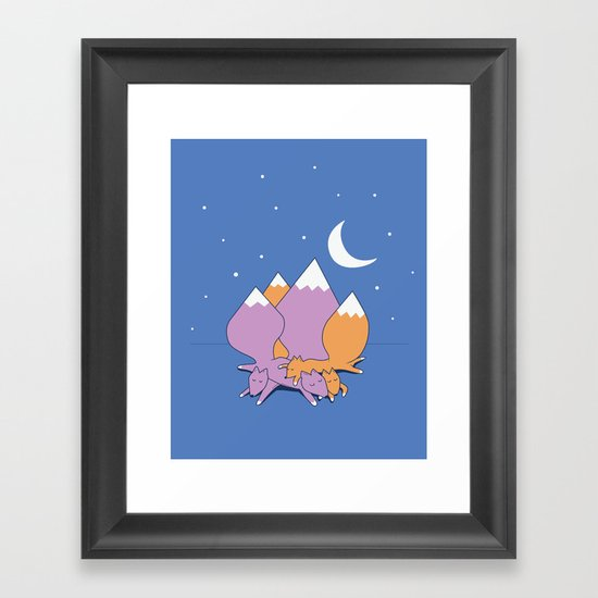Let sleeping foxes lie Framed Art Print