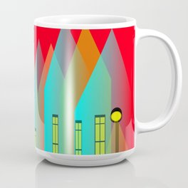 Terraced houses on red - by Matilda Lorentsson Coffee Mug