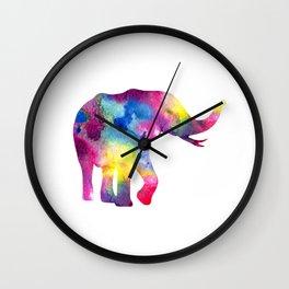 Abstract Elephant Wall Clock