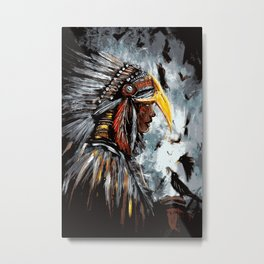 Christina of the Feathers Metal Print