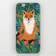 Fox Yoga iPhone Skin