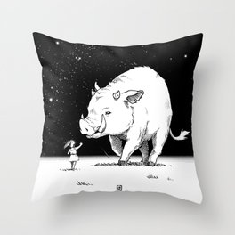 Edge of the universe: Warthog Throw Pillow
