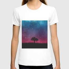Tree Space Galaxy Cosmos T-shirt