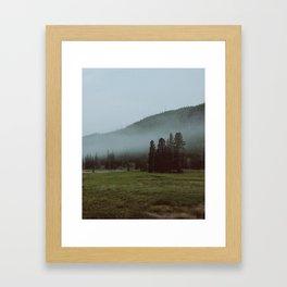 YNP fog 2 Framed Art Print