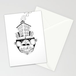 Homo Erectus in Modern World Stationery Cards