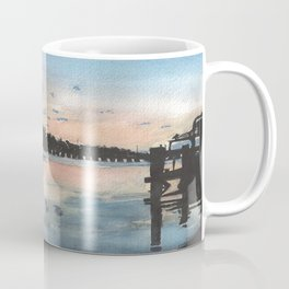 Sunset at the Boat Dock Coffee Mug