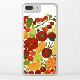 Whimsical Fruit Salad Clear iPhone Case