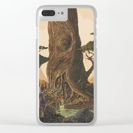The Ancient Heart Tree Clear iPhone Case