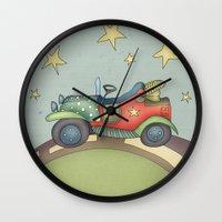 onesie Wall Clocks featuring Boy by Catru