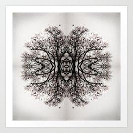 Winter Storm Ink Blot Art Print