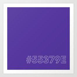#5539E [hashtag color] Art Print