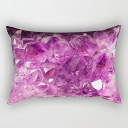 Amethyst faux geode crystal gemstone photo hipster gem stone mineral specimen photograph geeky geek Rectangular Pillow