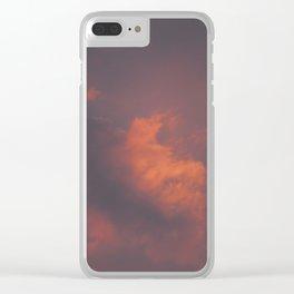 Pastel Clouds Clear iPhone Case