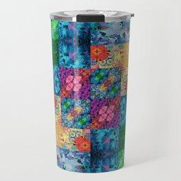 High Definition Geometric Quilt 1 Travel Mug