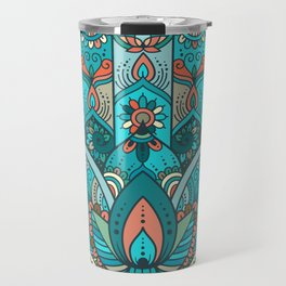 Hamsa Hand of Fatima, good luck charm, protection symbol anti evil eye Travel Mug