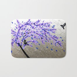 Purple Tree of Life Bath Mat