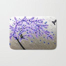 Purple Tree of Life Bath Mat