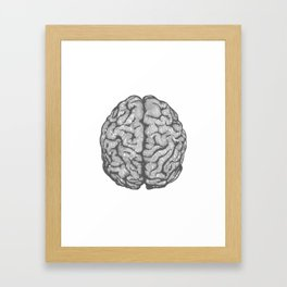 Brain vintage illustration Framed Art Print