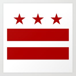 Washington DC District Of Columbia Flag Art Print