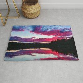 Purple Sunset on the Scituate Reservoir, Rhode Island Rug