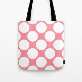 Polka Dots Pink Tote Bag