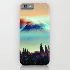 Mountains and Forest - Vintage Foggy Mt. Hood Mountain iPhone 6s Slim Case