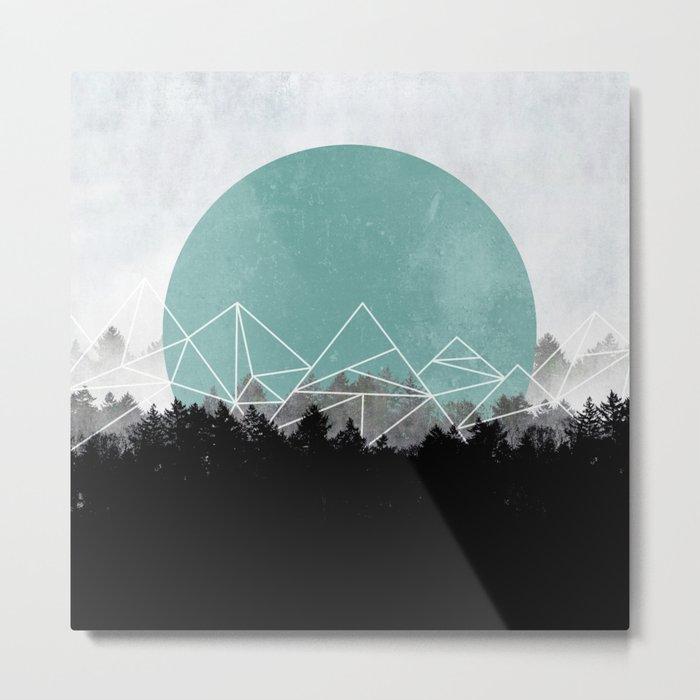 Woods Abstract 2 Metal Print