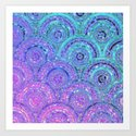 Aqua Blue Purple and Pink Sparkling Glitter Circles by betterhome