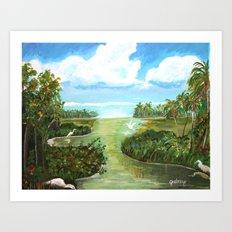 Marsh Birds Art Print