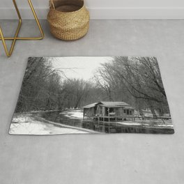 Cabin on the River Rug