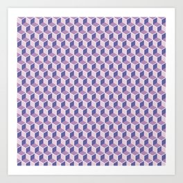 Unicorn Honeycomb Art Print