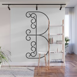 """Letter """"B"""" in beautiful design Fashion Modern Style Wall Mural"""
