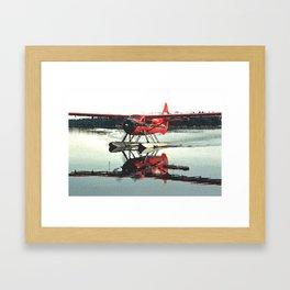Beluga Lake Otter Framed Art Print
