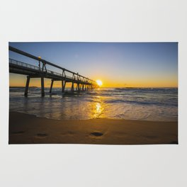 Southport Jetty at Sunrise Rug